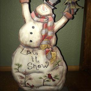 Let it Snow, snowman Christmas decoration